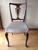Stół Okrągły Ludwikowski (rozkładany) z krzesłami 4szt - 4
