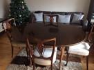 Stół Okrągły Ludwikowski (rozkładany) z krzesłami 4szt - 3