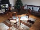 Stół Okrągły Ludwikowski (rozkładany) z krzesłami 4szt