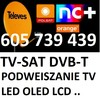 MONTAZ SERWIS ANTEN DVB-T,TV-SAT PODWIESZANIE TV 605739439