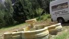 Duża i ryginalna fontanna z kamienia -piaskowiec - 2