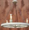 Lampa żyrandol drewniany kolo - 2
