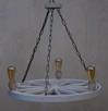 Lampa żyrandol drewniany kolo - 3