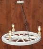 Lampa żyrandol drewniany kolo - 1