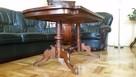 Drewniany elegancki stół, ława w wysokim połysku - 5