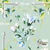 Materiał drukowany na zamówienie - Wiosenne kwiaty - seria 1 - 1