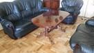 Drewniany elegancki stół, ława w wysokim połysku - 3