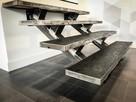 Schody wewnętrzne metalowe - stalowe || loftowe, industrial - 3