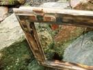 Stara okna drewniane retro loft lustro zdjęcia grill, 41x74 - 3