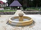 Piaskowiec, fontanna z kulą, naturalny kamień - 2