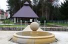 Piaskowiec, fontanna z kulą, naturalny kamień - 1
