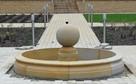 Piaskowiec, fontanna z kulą, naturalny kamień - 4