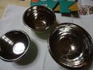 Pojemniki miski stalowe 3 szt.
