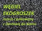 Węgiel Ekogroszek z szybką dostawą z wrzuceniem, wniesieniem