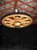 żyrandol koło drewniane - 3