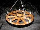 żyrandol koło drewniane - 4