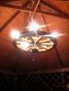 żyrandol koło drewniane - 6