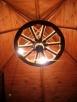 żyrandol koło drewniane - 7