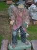 Bernardyn betonowa figurka ozdoba betonowa - 4