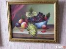 Obraz olejny na płotnie w ramie -salonowy DUZY Muszyna
