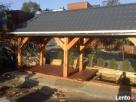 Garaże z drewna, wiaty garażowe