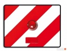 TABLICA PONADGABARYTOWA 40cm x 30cm z lampką i odblaskiem Nidzica