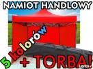 NAMIOT ekspresowy handlowy pawilon 3x3 TORBA, 5 kolorów! NOW Wrocław