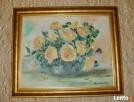 Obraz olejny-kwiaty w wazonie żółte Rabka-Zdrój
