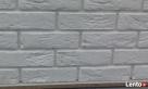 płytki gipsowa biała cegła z fuga dekoracyjne scienne - 3