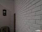 płytki gipsowa biała cegła z fuga dekoracyjne scienne - 6