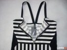 H&M modna NOWA sukienka Marynarska Paski 38 40 - 3