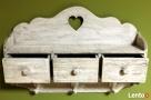 drewniana wisząca szafka wieszak retro vintage shabby chic Limanowa