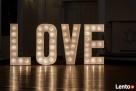 Napis Love wystrój sali weselnej sesje zdjęciowe najtaniej