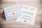 Zaproszenia ślubne marynarskie w paski