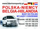 Busy do Belgi, Niemiec i Holandii. Przewóz osób i paczek.