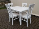 Zestaw prowansalski biały-stół 120*80+4 krzesła Krzyż Nowe