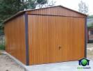 Garaże Blaszane Drewnopodobne Garaż 3x5 Blaszaki Dwuspadowe