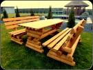 Meble ogrodowe, drewniane,barowe, hustawka,ławka, stół,krzesło