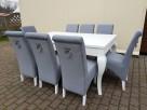 Glamour krzesło tapicerowane z kołatką i pinezkami Producent - 3
