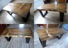 Stolik WENGE kawowy skandynawski ława drewniany - 4
