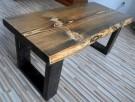 Stolik WENGE kawowy skandynawski ława drewniany - 1