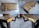Stolik WENGE kawowy skandynawski ława drewniany - 3