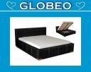 Globeo - Łóżko sypialniane Alicja z materacem