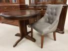 Krzesło chesterfield glamour pikowane kołatka pinezki Nowe