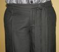 Szerokie spodnie z wełną czarne M/L wide szwedy - 3