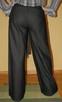 Szerokie spodnie z wełną czarne M/L wide szwedy - 1