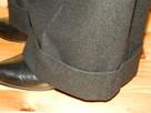 Szerokie spodnie z wełną czarne M/L wide szwedy - 5