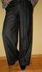 Szerokie spodnie z wełną czarne M/L wide szwedy - 2