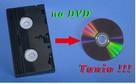 Tanie przegrywanie kaset VHS na płyty DVD - 15gr za minutę. - 2