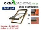 Okno dachowe 66x98 cm z kołnierzem OptiLight B CENA BRUTTO - 1